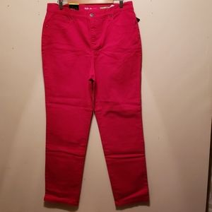 Style & Co. Red Straight Leg Jeans